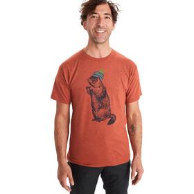 Marmot Pom Pom T-shirt Heren, rood